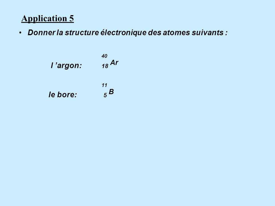 Structure électronique d un atome de magnésium 24 Mg : (K) 2 (L) 8 (M) 2 La couche interne est toujours la couche K La couche externe est la dernière