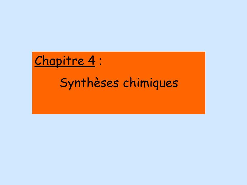 I- Synthèse dune espèce chimique 1- Définition La synthèse dune espèce chimique est la préparation de cette espèce par une transformation chimique.