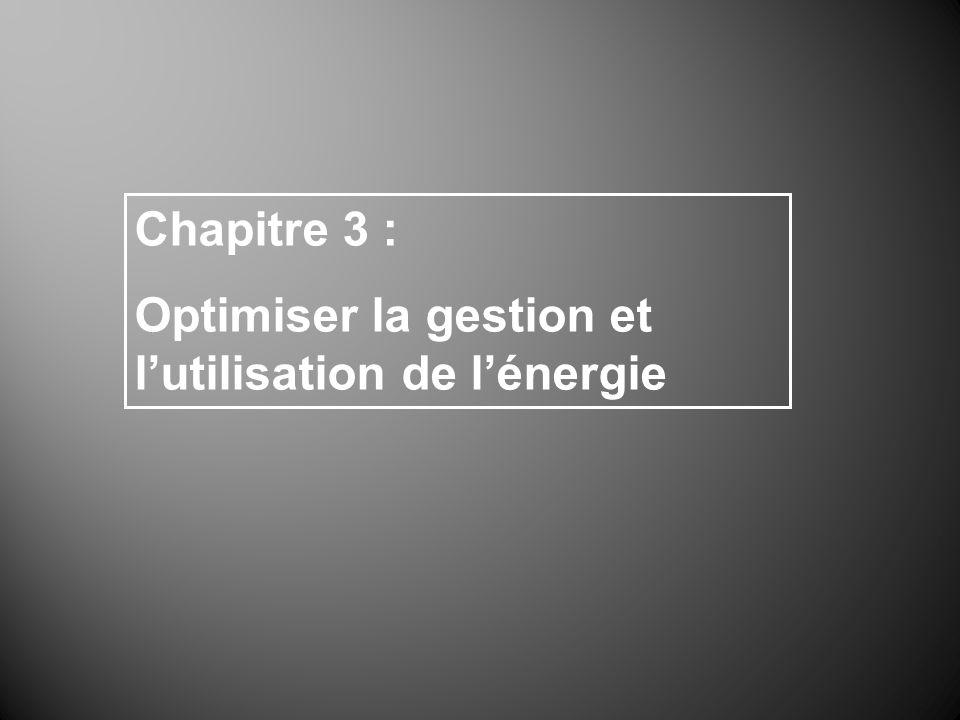 Chapitre 3 : Optimiser la gestion et lutilisation de lénergie