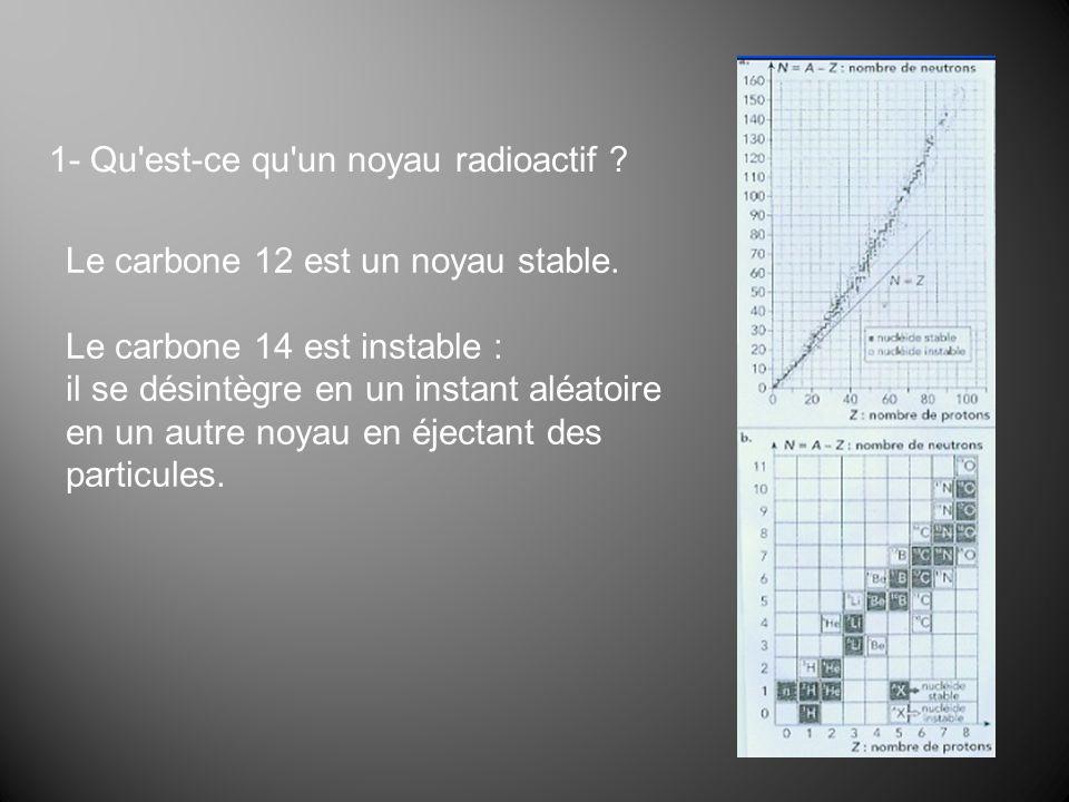 Le carbone 12 est un noyau stable.