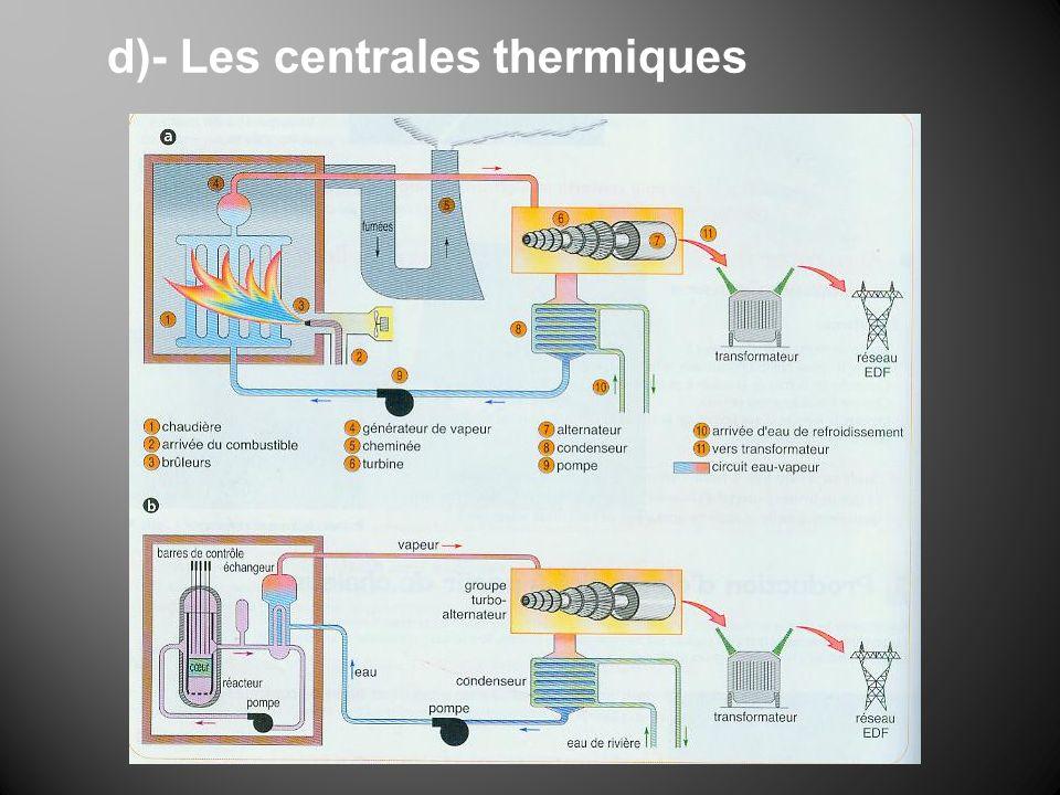 d)- Les centrales thermiques