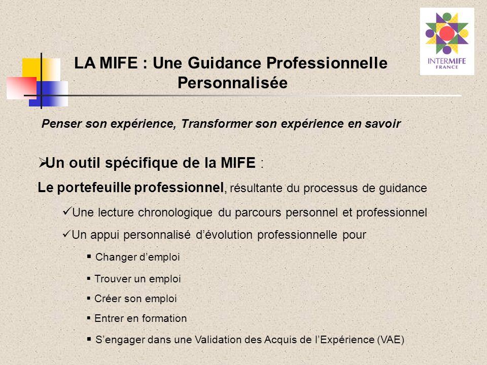 Un outil spécifique de la MIFE : Le portefeuille professionnel, résultante du processus de guidance Une lecture chronologique du parcours personnel et