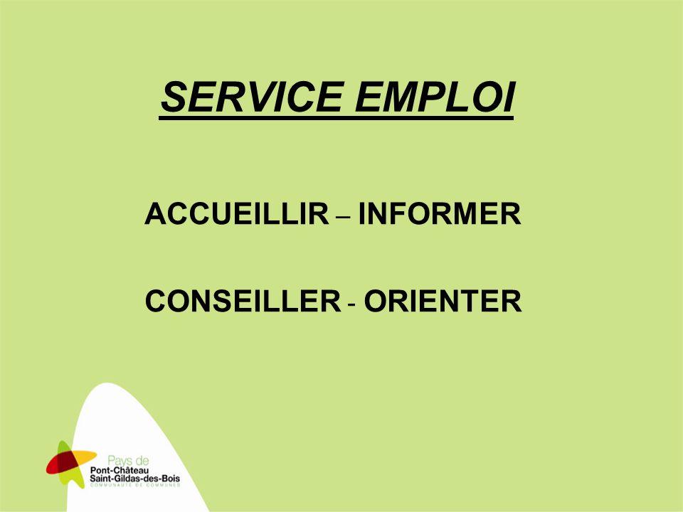 SERVICE EMPLOI ACCUEILLIR – INFORMER CONSEILLER - ORIENTER