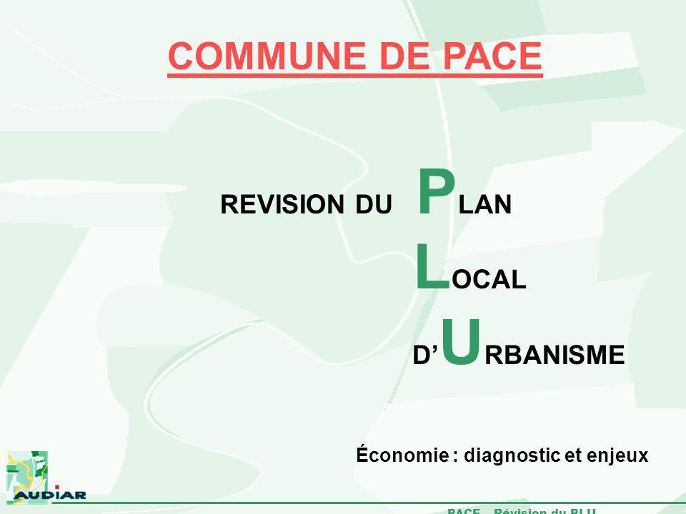 PACE – Révision du PLU Économie : diagnostic et enjeux COMMUNE DE PACE REVISION DU P LAN L OCAL D U RBANISME