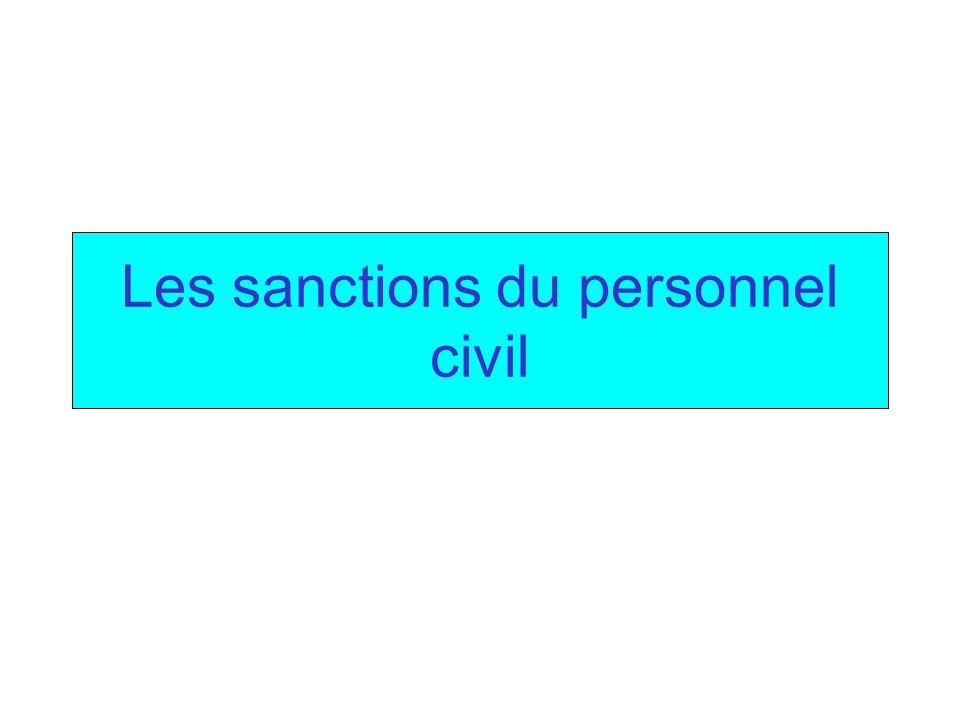 Les sanctions du personnel civil