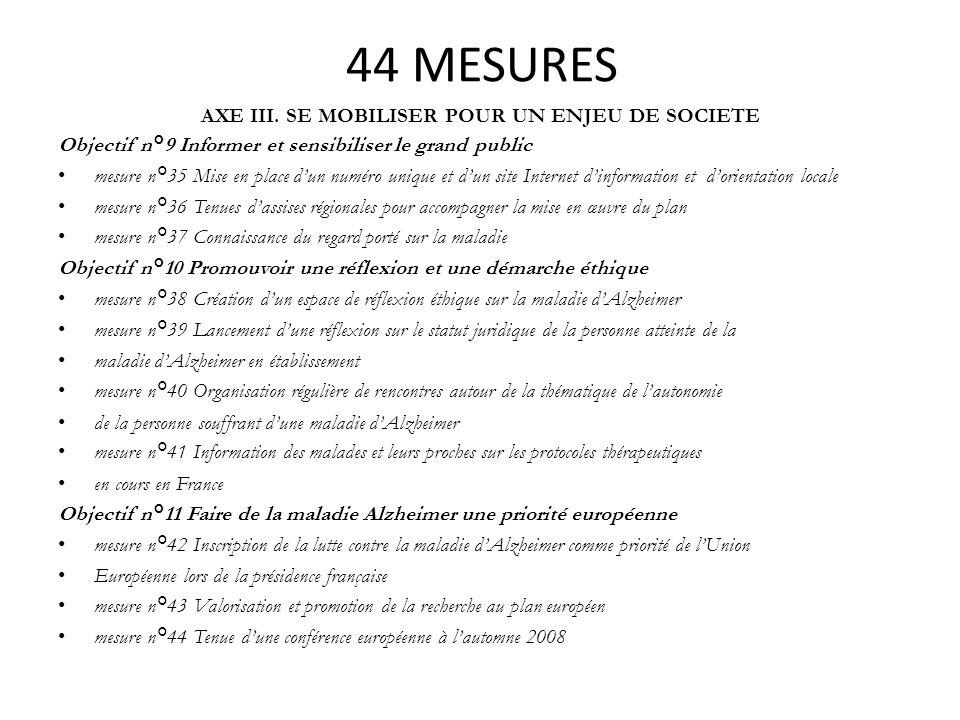 44 MESURES AXE III. SE MOBILISER POUR UN ENJEU DE SOCIETE Objectif n°9 Informer et sensibiliser le grand public mesure n°35 Mise en place dun numéro u