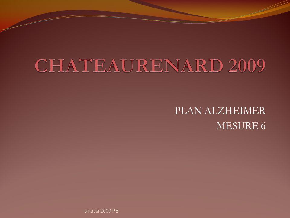 PLAN ALZHEIMER MESURE 6 unassi 2009 PB