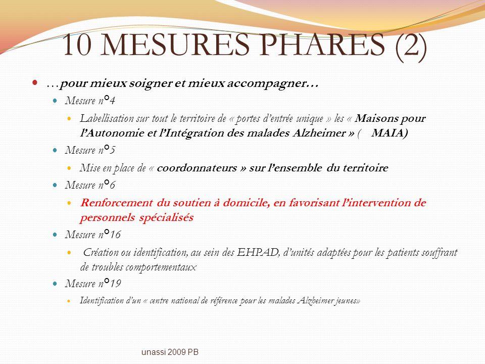10 MESURES PHARES (2) …pour mieux soigner et mieux accompagner… Mesure n°4 Labellisation sur tout le territoire de « portes dentrée unique » les « Mai