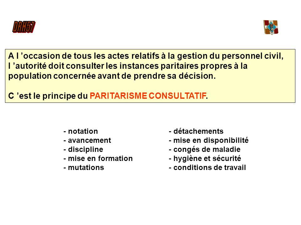 - notation - avancement - discipline - mise en formation - mutations - détachements - mise en disponibilité - congés de maladie - hygiène et sécurité