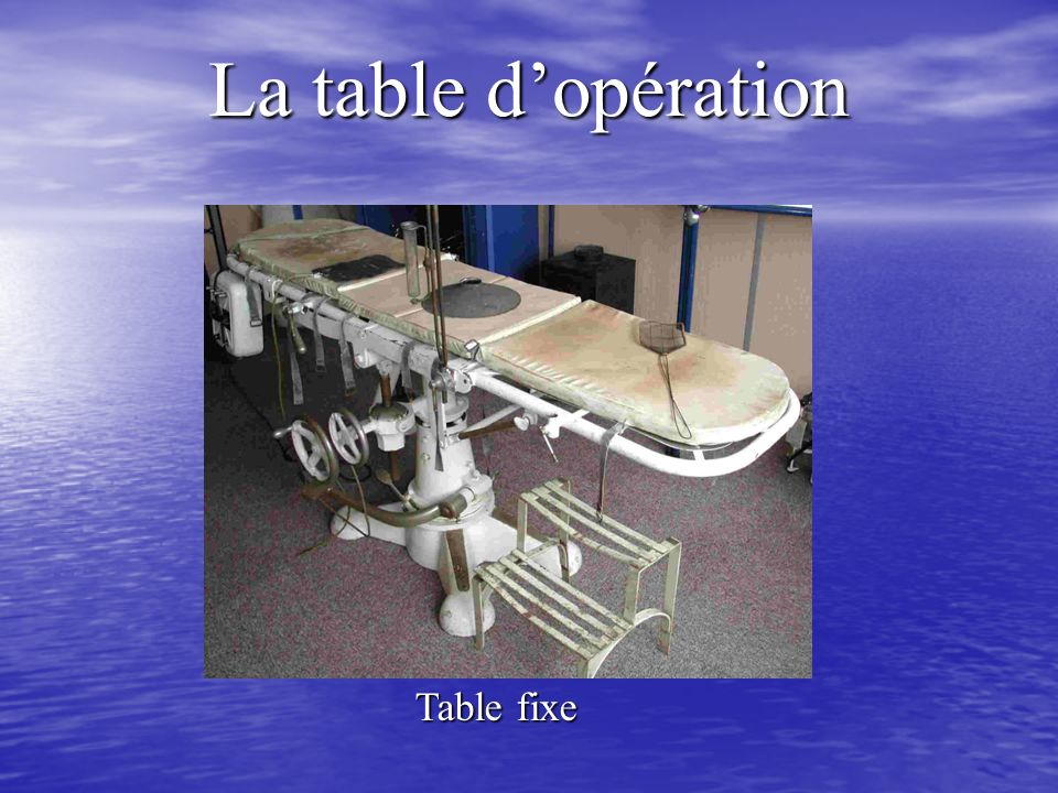 La table dopération Table fixe