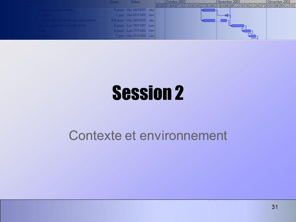 31 Session 2 Contexte et environnement