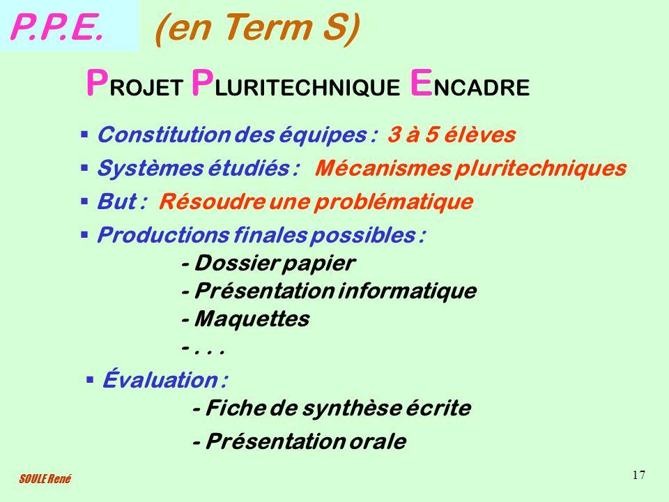 SOULE René 17 P.P.E.