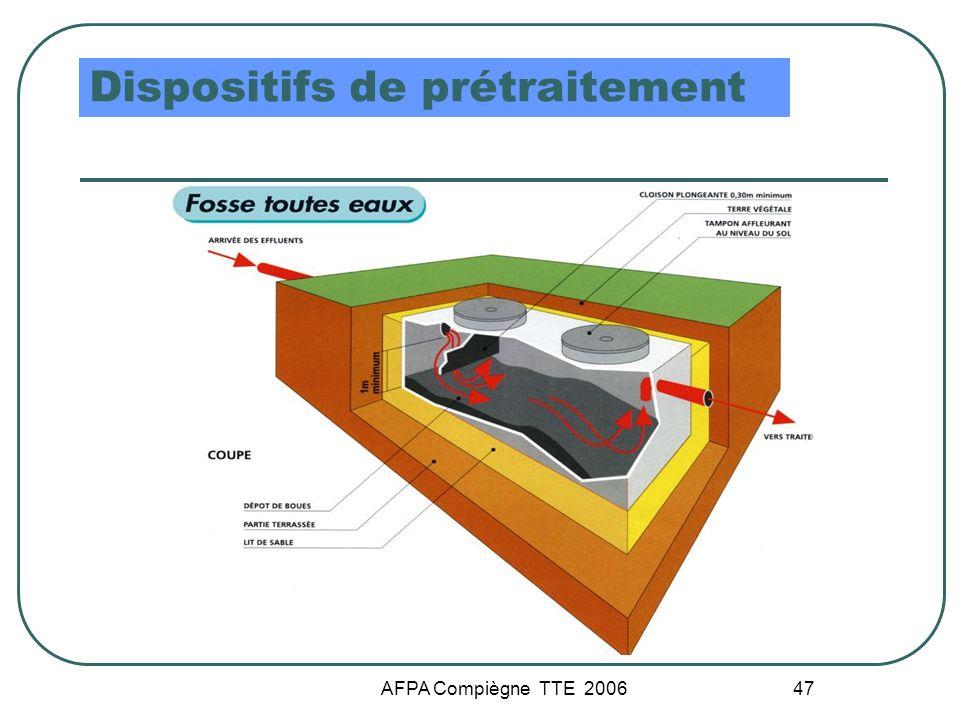 AFPA Compiègne TTE 2006 47 Dispositifs de prétraitement