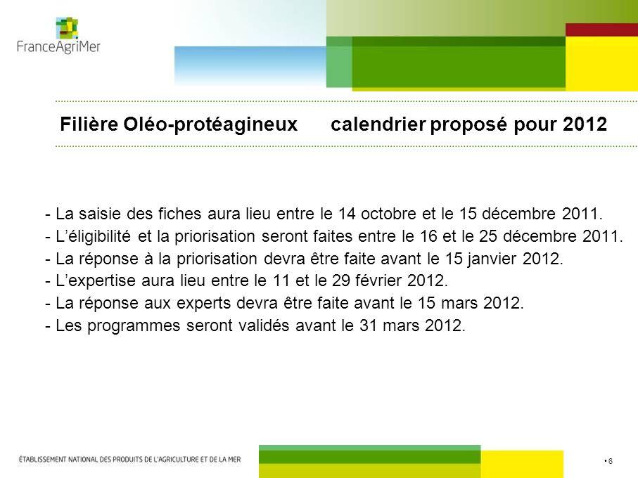 6 - La saisie des fiches aura lieu entre le 14 octobre et le 15 décembre 2011. - Léligibilité et la priorisation seront faites entre le 16 et le 25 dé