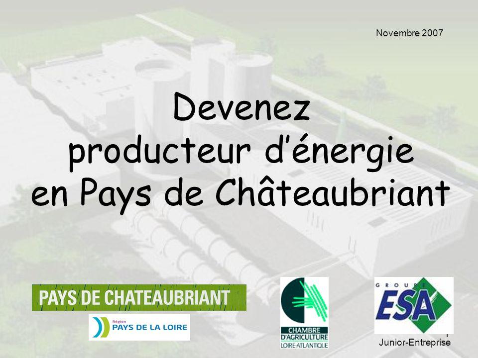 1 Devenez producteur dénergie en Pays de Châteaubriant Junior-Entreprise Novembre 2007