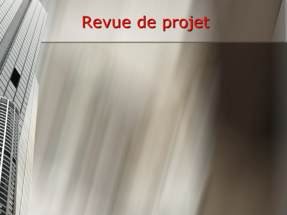 Revue de projet