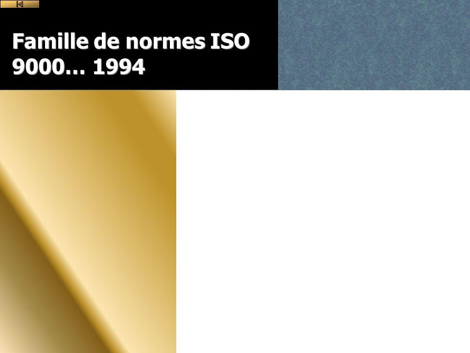 Famille de normes ISO 9000… 1994