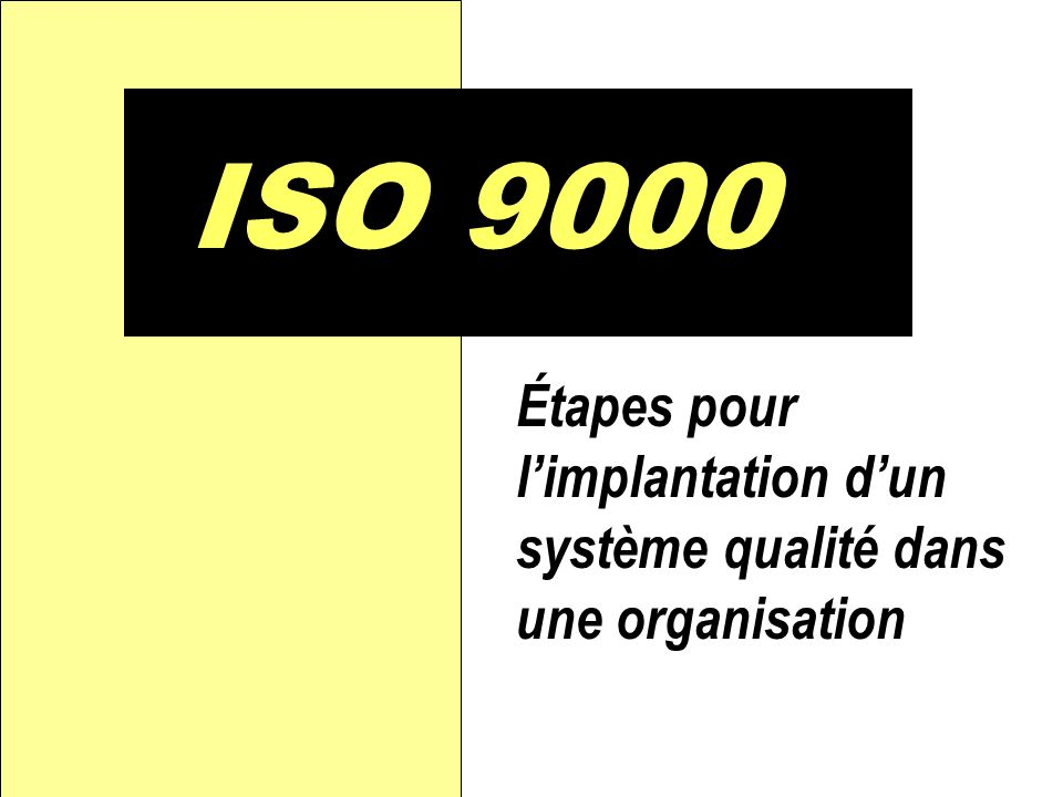 D Diagnostic qualité Le but est d estimer la différence entre la situation actuelle et la situation visée (norme ISO 9000) pour déterminer le travail qu il y a à faire pour y arriver.