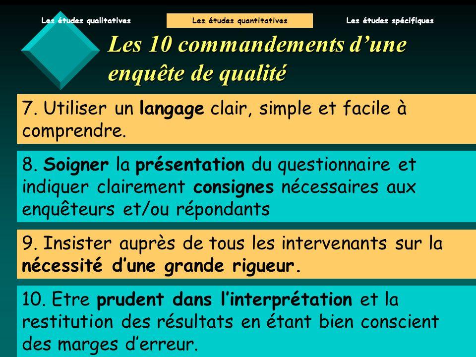 V.Baglin 06/07 7.Utiliser un langage clair, simple et facile à comprendre.
