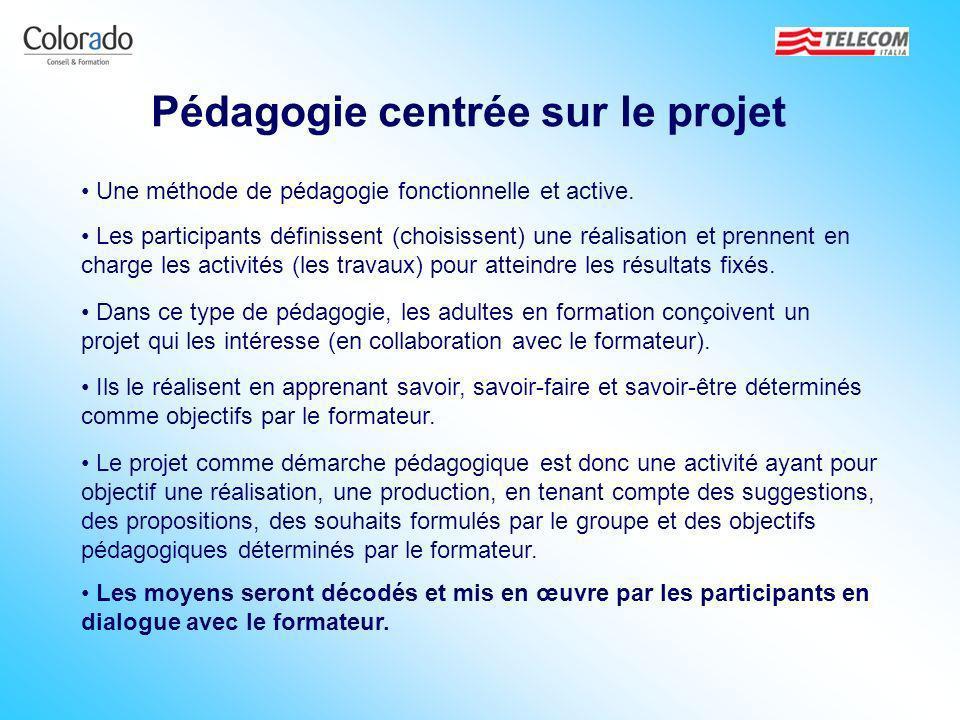 Pédagogie centrée sur le projet Une méthode de pédagogie fonctionnelle et active. Ils le réalisent en apprenant savoir, savoir-faire et savoir-être dé
