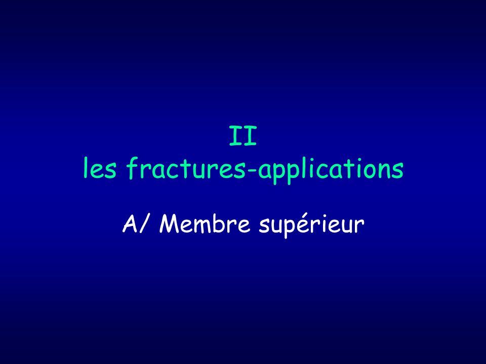 II les fractures-applications A/ Membre supérieur