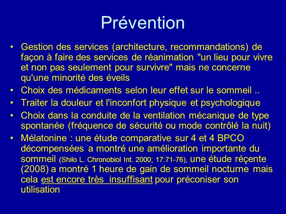 Prévention Gestion des services (architecture, recommandations) de façon à faire des services de réanimation