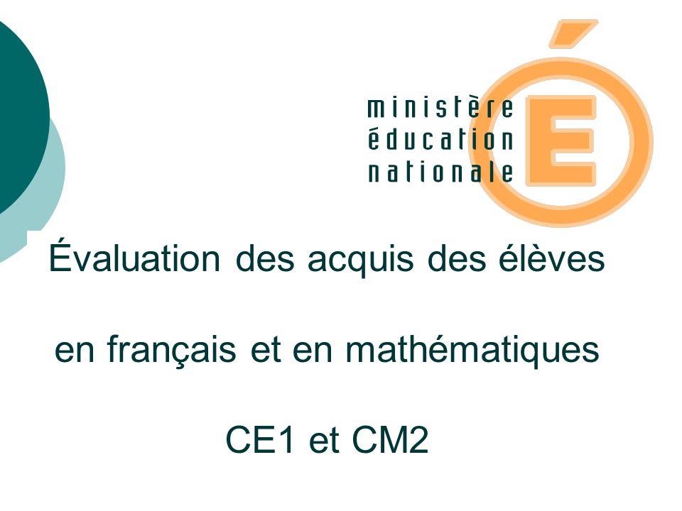 Indicateurs de répartition des résultats en français et en mathématiques Élèves dont le taux de réussite est inférieur à 33% En grande difficulté scolaire.