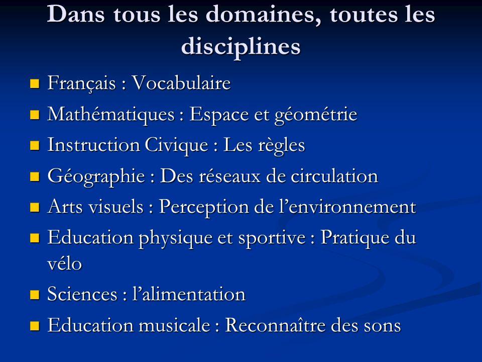 Dans tous les domaines, toutes les disciplines Français : Vocabulaire Français : Vocabulaire Mathématiques : Espace et géométrie Mathématiques : Espac