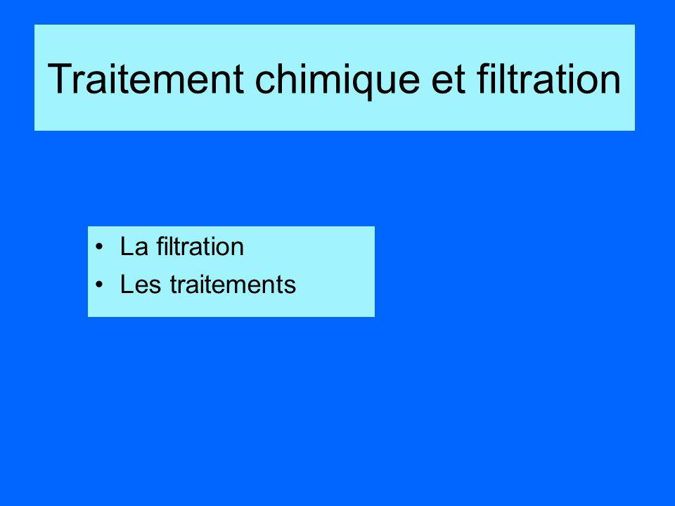 La filtration Les traitements Traitement chimique et filtration