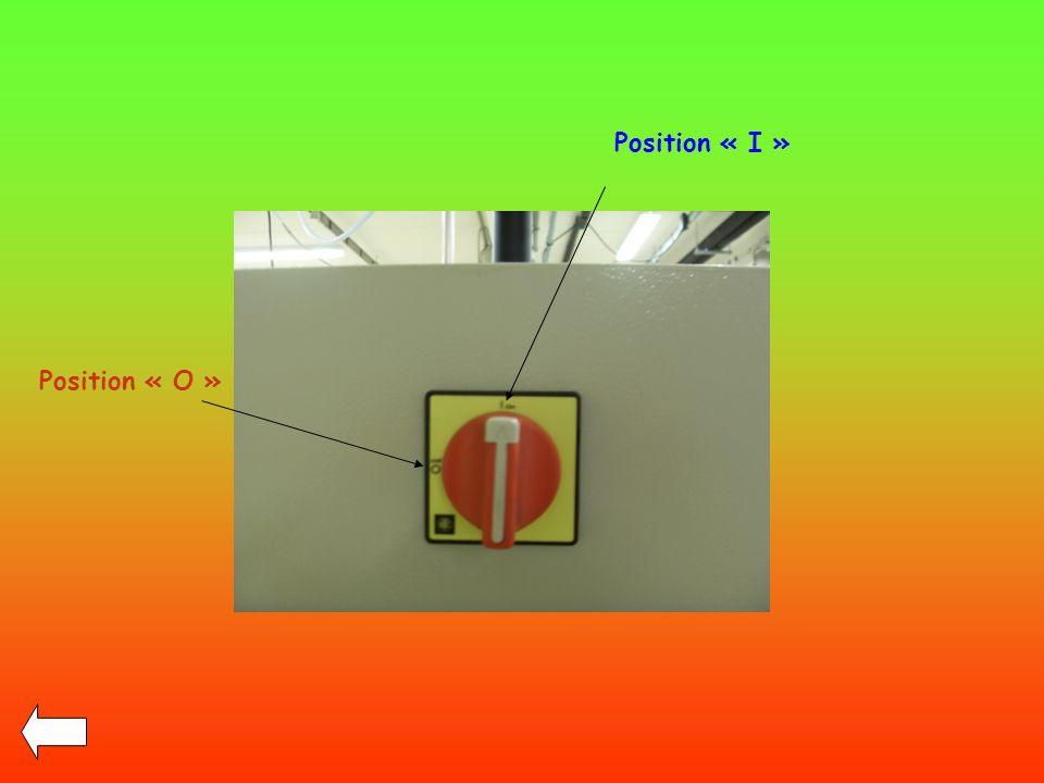 Position « I » Position « O »