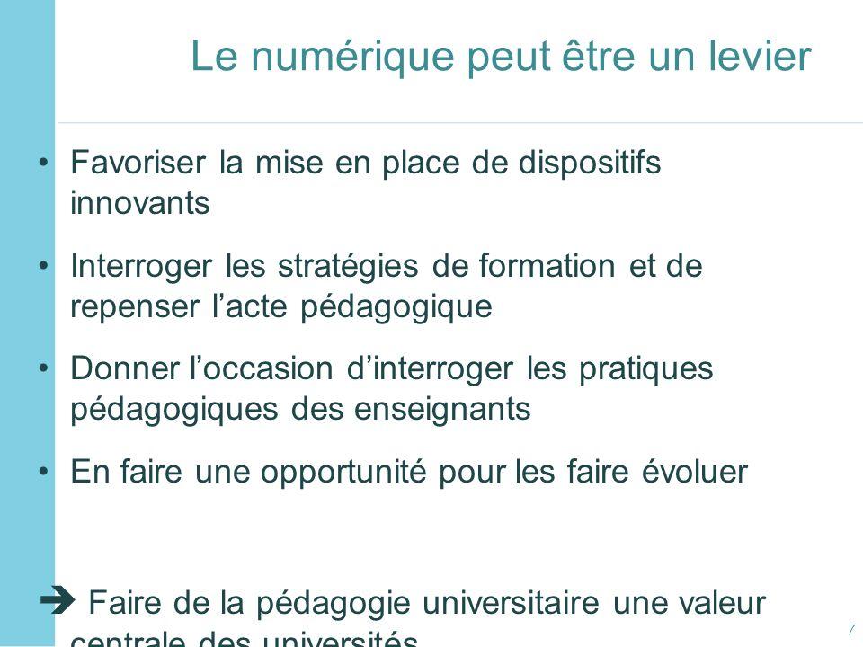 C2i2 niveau 2 « enseignant » Expérimentations pour les (futurs) enseignants du Sup Expérimentations pour des publics de formateurs en formation professionnelle dadultes GT « Ressources pour le C2i2e » pour favoriser la mutualisation de ressources dans une perspective de service public Séminaire des C2i à Lille 14 – 16 décembre Séminaire C2i2e à Nancy en mars 2011 Université dété C2i2e en juillet 2011 (à létude) .