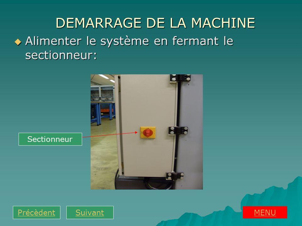 Réarmer le système en appuyant sur le bouton réarmement: Réarmer le système en appuyant sur le bouton réarmement: MENU PrécèdentSuivant Réarmement