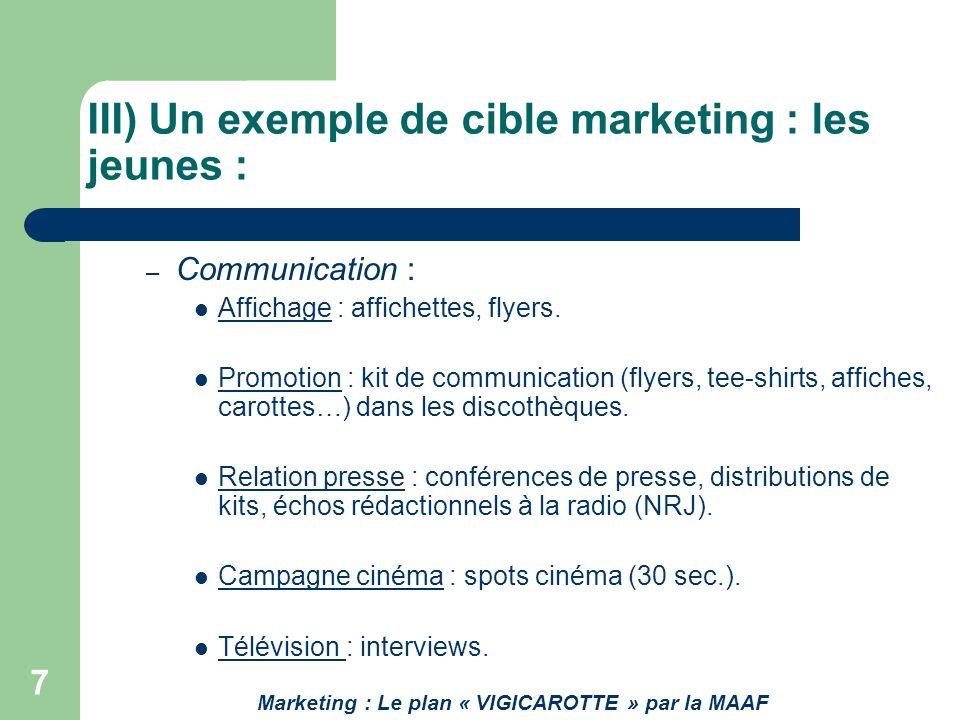 7 – Communication : Affichage : affichettes, flyers. Promotion : kit de communication (flyers, tee-shirts, affiches, carottes…) dans les discothèques.