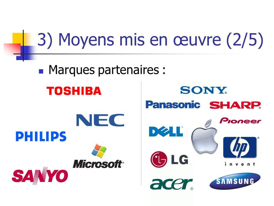 3) Moyens mis en œuvre (2/5) Marques partenaires :