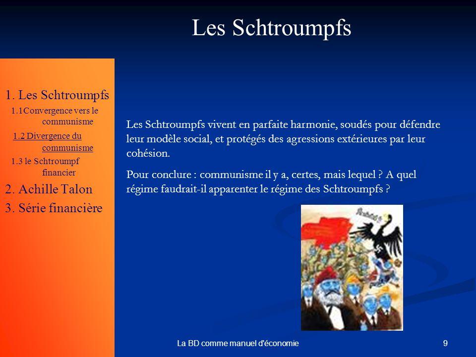 9La BD comme manuel d'économie Les Schtroumpfs 1. Les Schtroumpfs 1.1Convergence vers le communisme 1.2 Divergence du communisme 1.3 le Schtroumpf fin