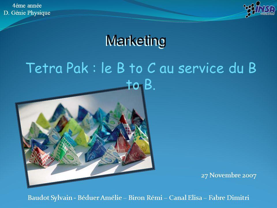 12 Tetra Pak : le B to C au service du B to B.