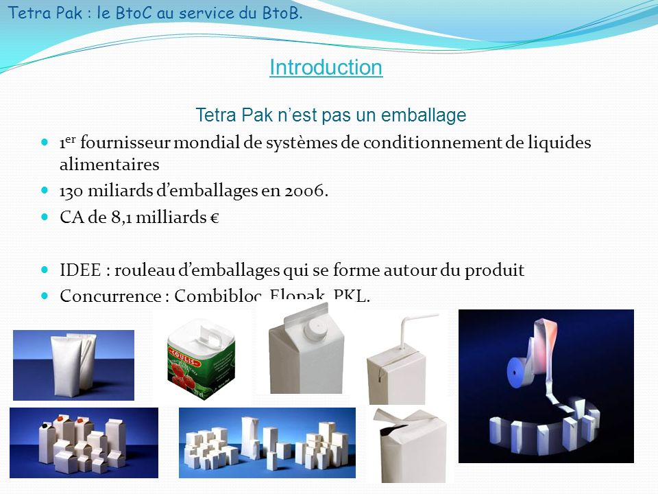 Tetra Pak : le BtoC au service du BtoB.3 Sommaire I.
