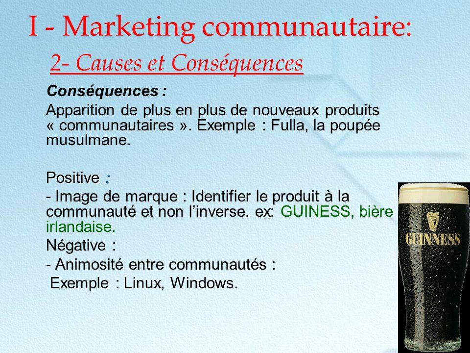 conclusion Le Conseil Marketing du moment semble donc être : jouez la carte des Communautés .