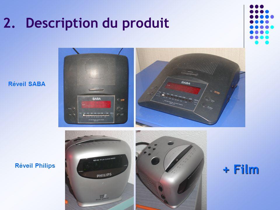 2.Description du produit Réveil SABA Réveil Philips + Film