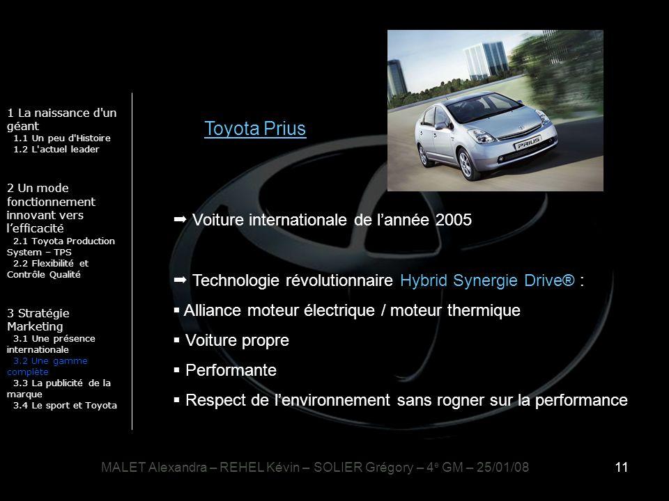 11 1 La naissance d'un géant 1.1 Un peu d'Histoire 1.2 L'actuel leader 2 Un mode fonctionnement innovant vers lefficacité 2.1 Toyota Production System