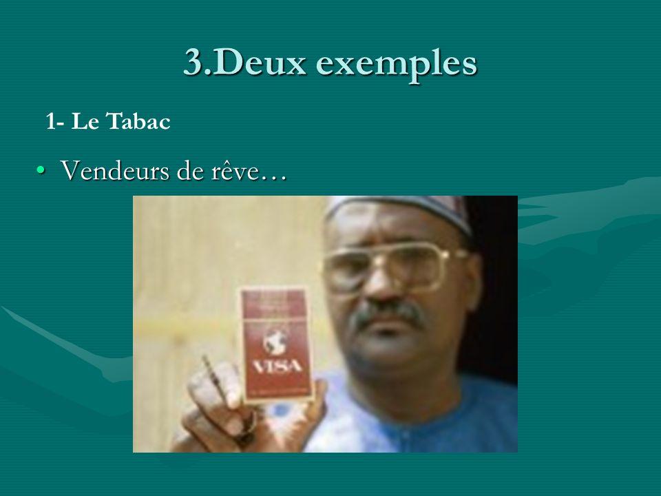 3.Deux exemples Vendeurs de rêve…Vendeurs de rêve… 1- Le Tabac