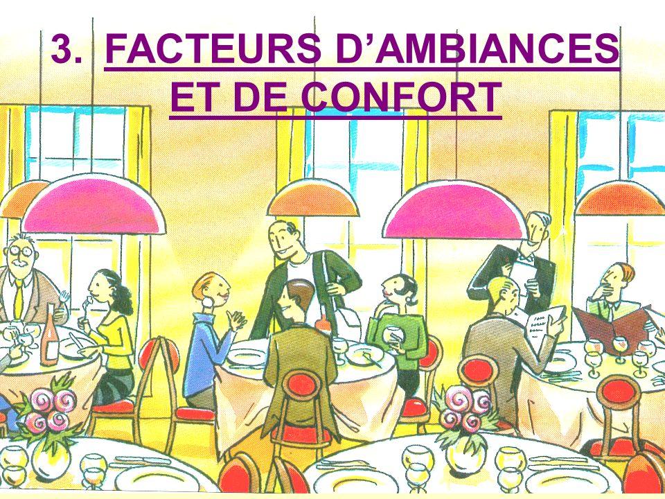 3. FACTEURS DAMBIANCES ET DE CONFORT