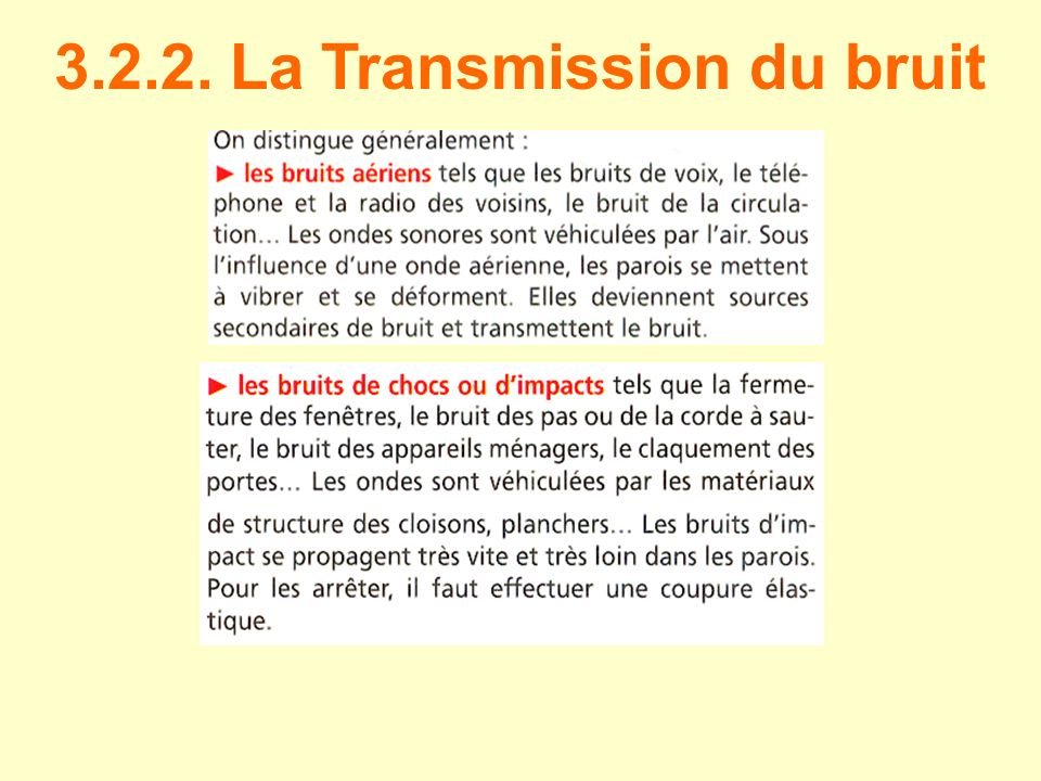 3.2.2. La Transmission du bruit