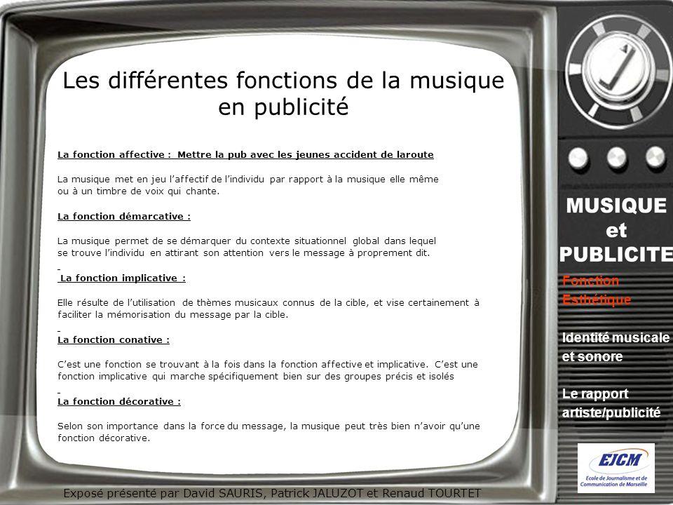Exposé présenté par David SAURIS, Patrick JALUZOT et Renaud TOURTET Identité musicale et sonore : lhymne à la marque .