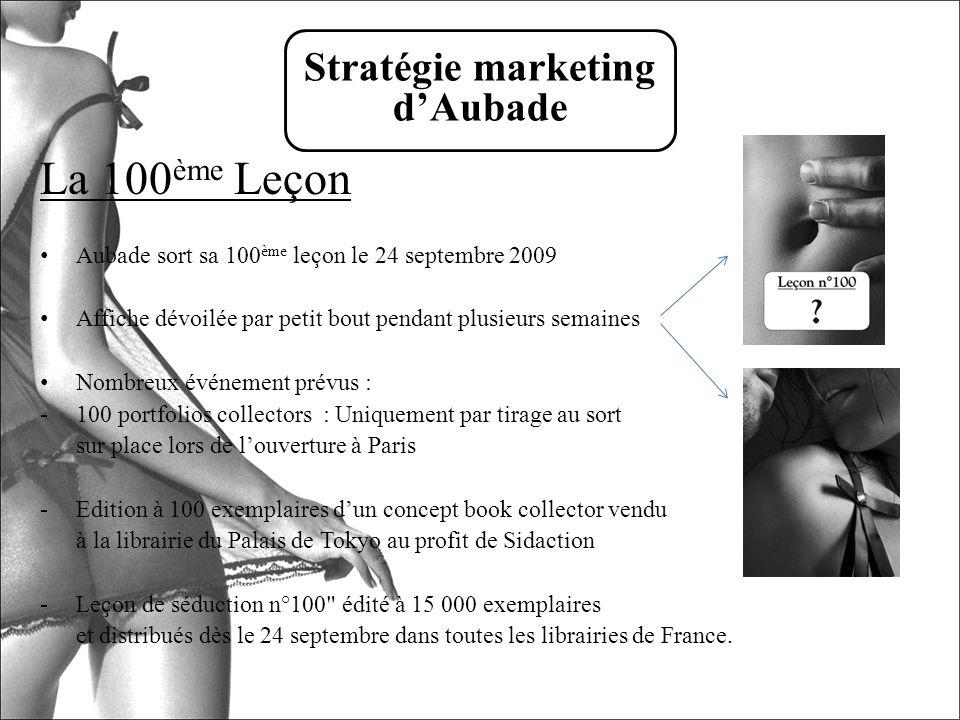 La 100 ème Leçon Aubade sort sa 100 ème leçon le 24 septembre 2009 Affiche dévoilée par petit bout pendant plusieurs semaines Nombreux événement prévu