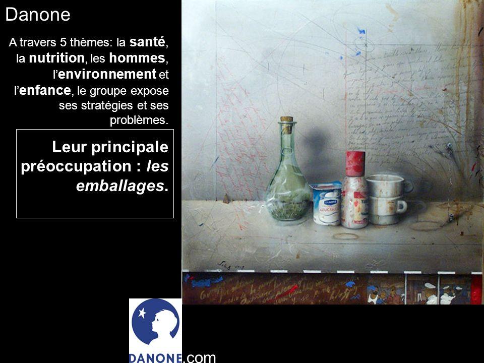 Danone A travers 5 thèmes: la santé, la nutrition, les hommes, l environnement et l enfance, le groupe expose ses stratégies et ses problèmes.