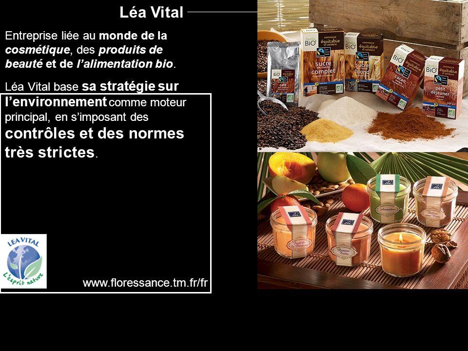 Léa Vital Entreprise liée au monde de la cosmétique, des produits de beauté et de lalimentation bio.