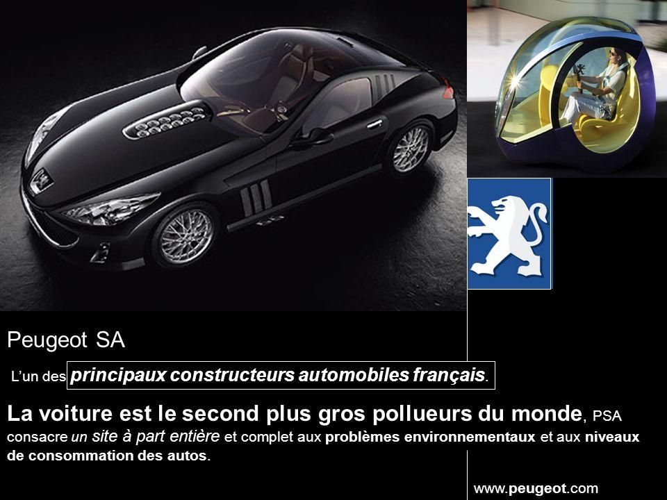 Peugeot SA Lun des principaux constructeurs automobiles français.