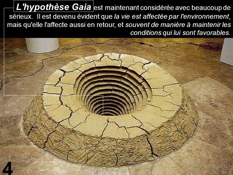 L hypothèse Gaia est maintenant considérée avec beaucoup de sérieux.