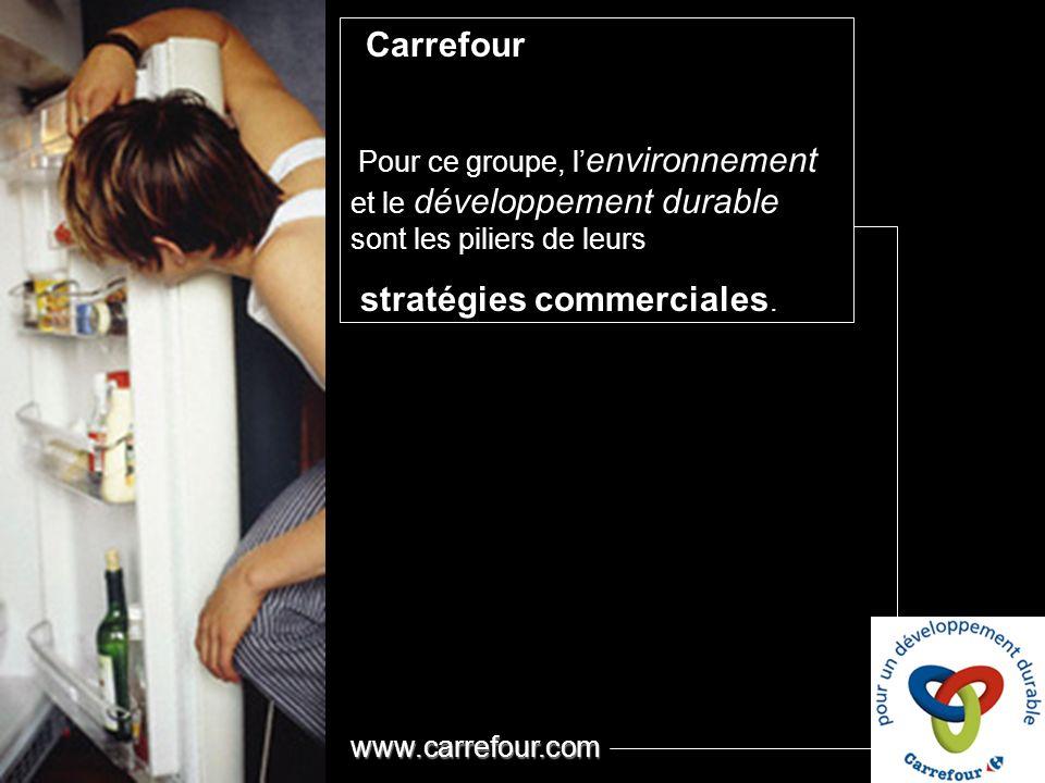 Carrefour Pour ce groupe, l environnement et le développement durable sont les piliers de leurs stratégies commerciales.